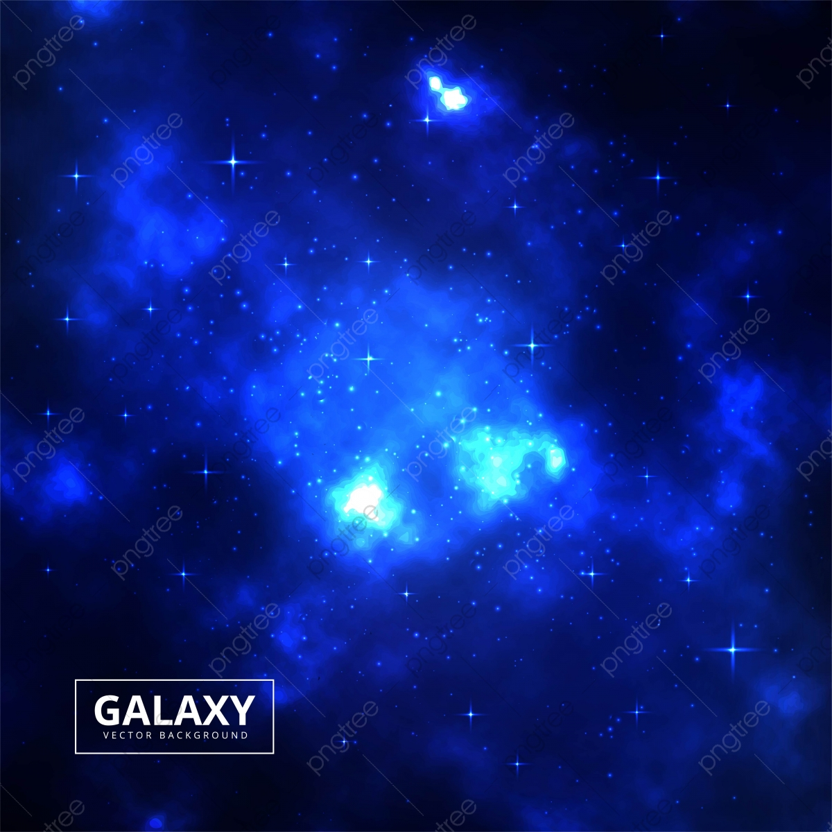 Night Starry Sky Blue Space Background With Bright Stars Vector