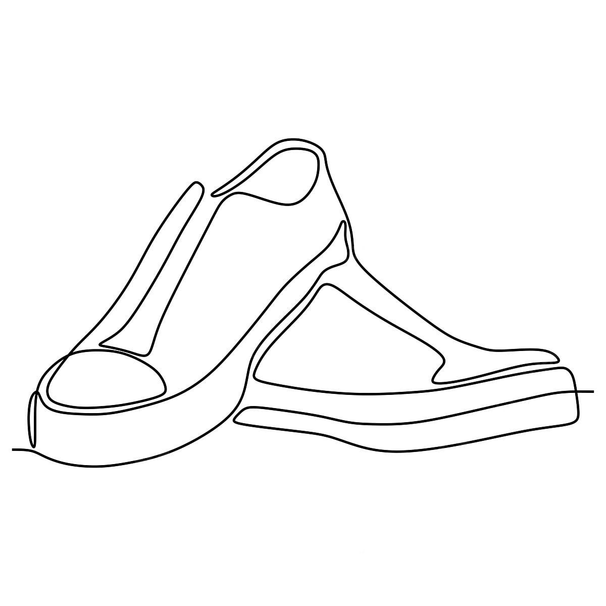 Dessin Un Chaussures Au Trait Vector Minimaliste De Design