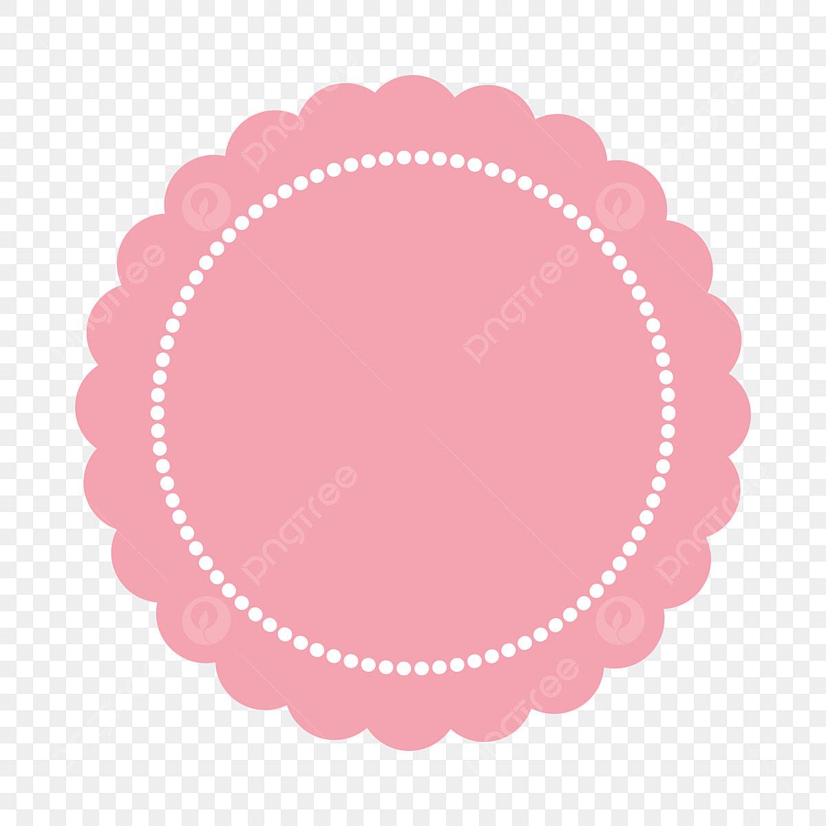 إطار جميل الوردي Clipart بابوا نيو غينيا عنصر إطار دائري إطار