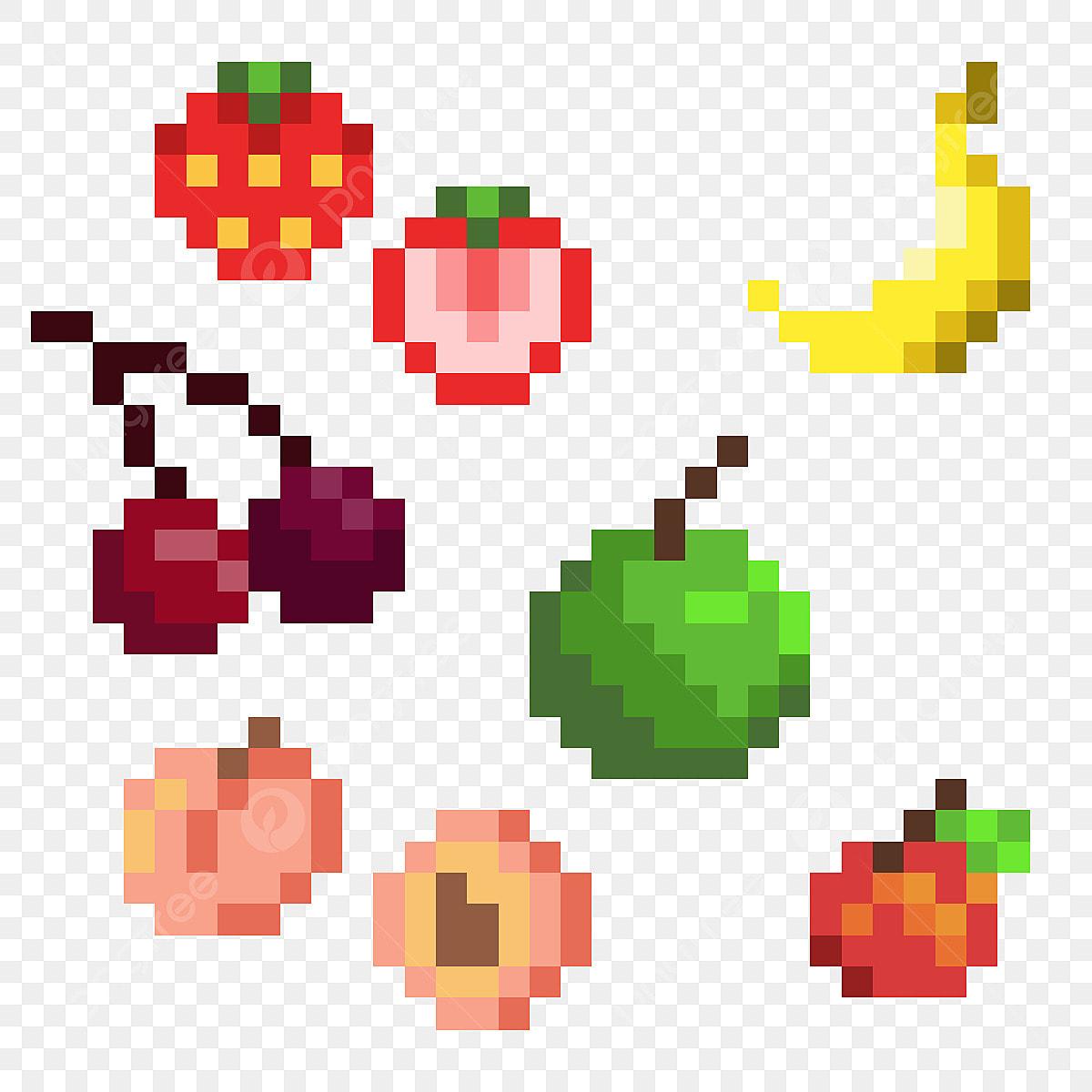 Pixel Fruit Pack Pixel Art Fruit Cherry Png Transparent