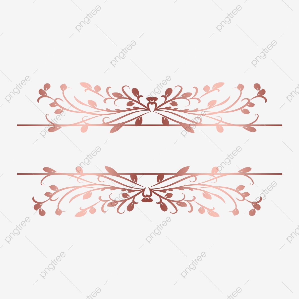 Rose Gold Floral Shiny Border Frame Png Transparent Gold Gold