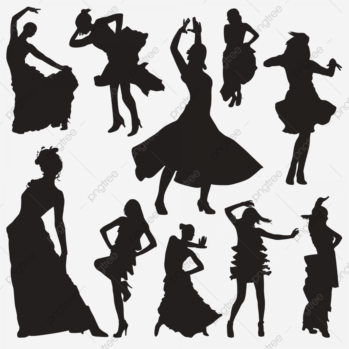 Salsa Dance Silhouette Action Actions Activity Png And Vector With Transparent Background For Free Download