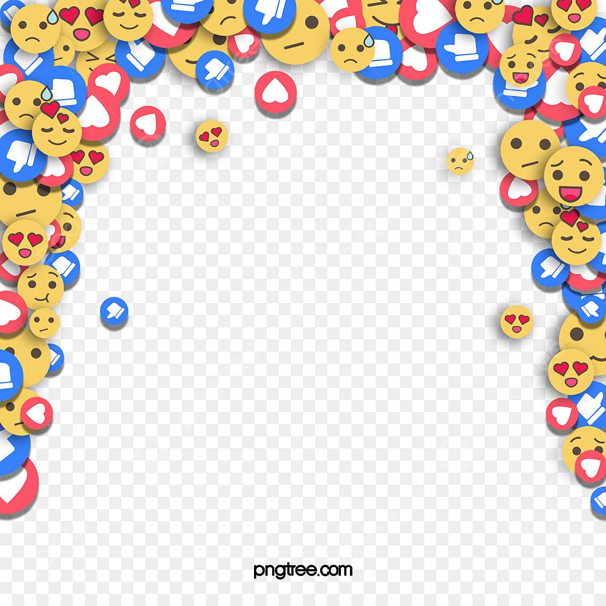 Expressions Emoji De Couleur Peintes A La Main Simples Comme Le