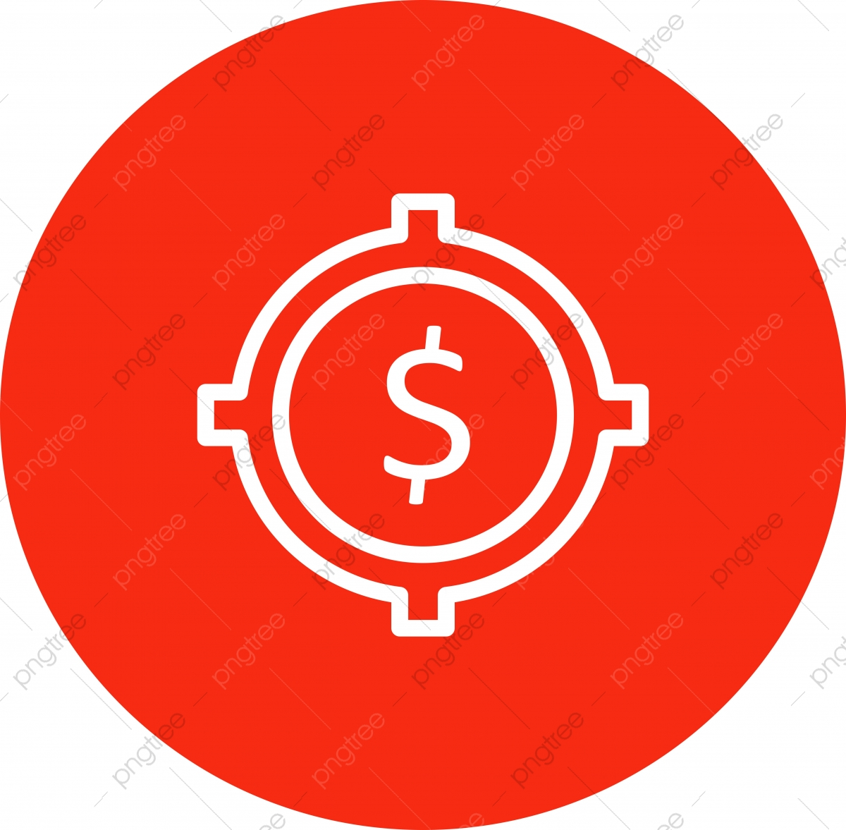 Target Dollar Icon Isolated On Abstract Background Target Icons Dollar Icons Background Icons Png And Vector With Transparent Background For Free Download