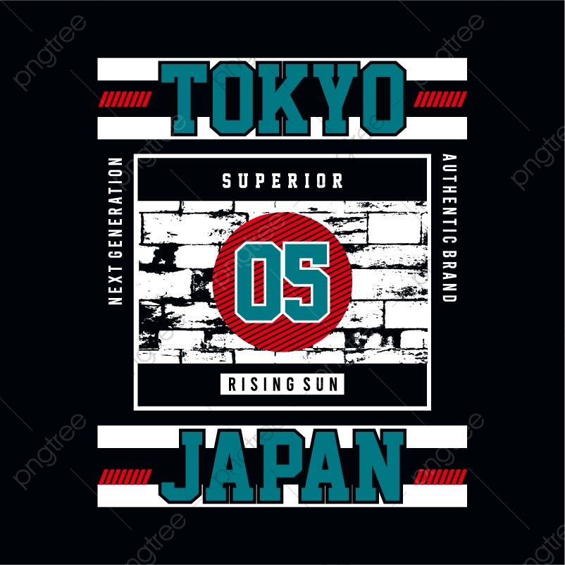 Tokyo Japan Tee Element Graphic Design T Shirt Print Vector Illustration Vector Apparel Art Artistic Png And Vector With Transparent Background For Free Download