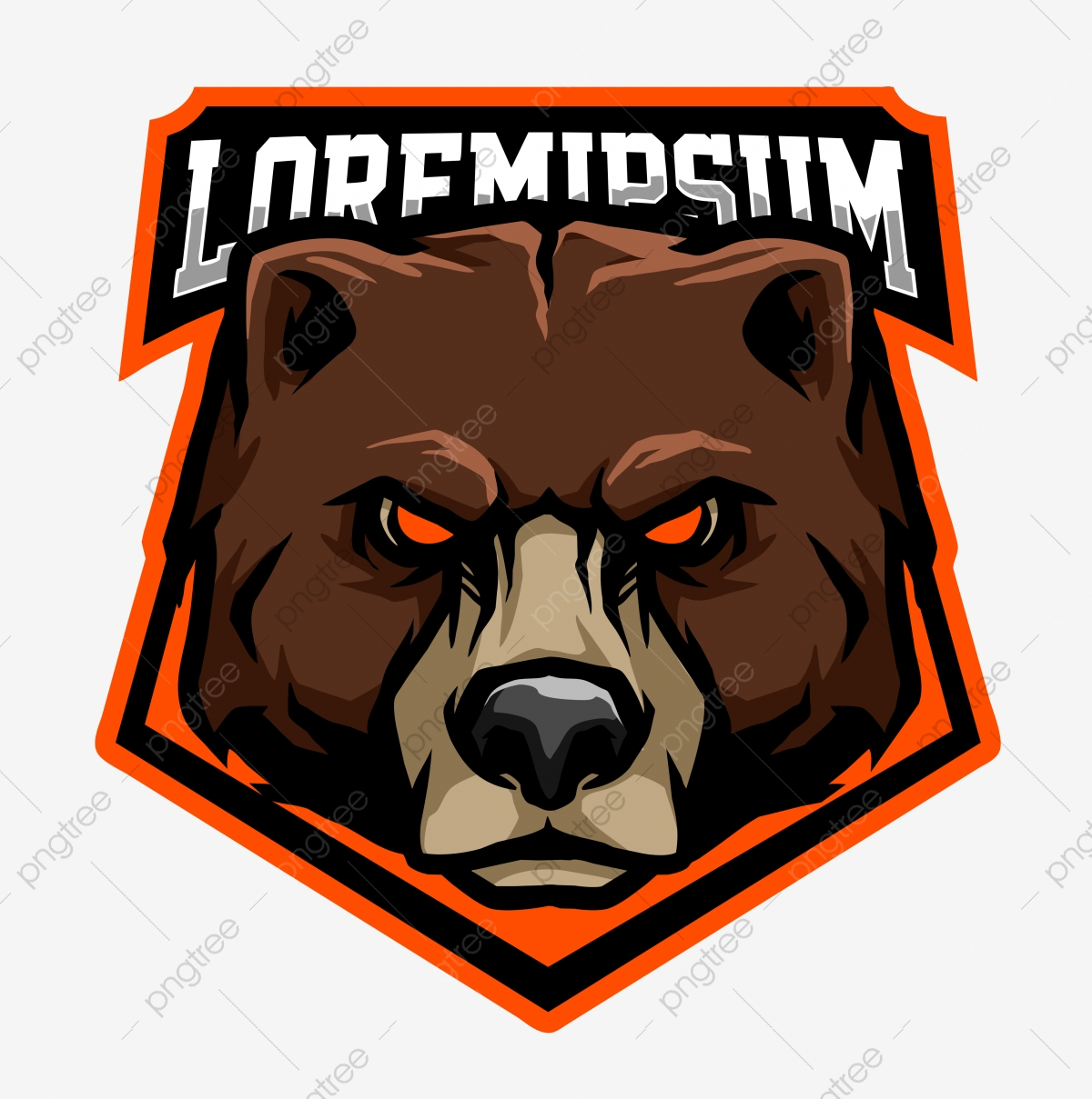Vector Of Bear Head Suitable For Logo Or Emblem Sports Team Beast Object Wildlife Png Transparent Clipart Image And Psd File For Free Download
