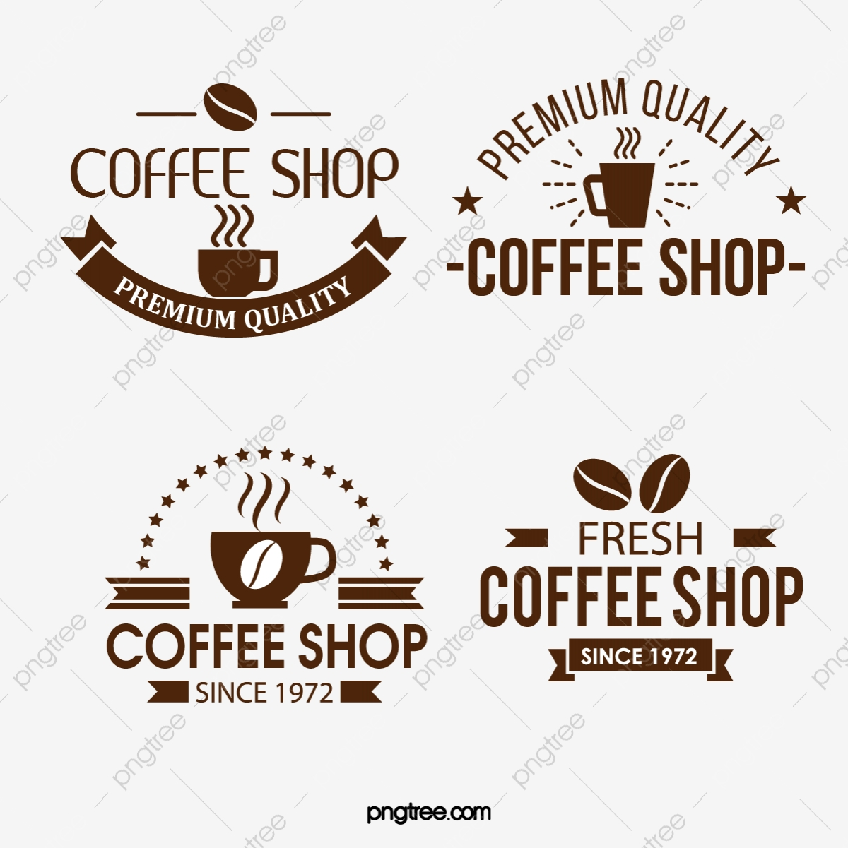 Vintage Fashion Brown Creative Coffee Shop Logo Coffee Art Word Logo Vintage Fashion Brown Png And Vector With Transparent Background For Free Download