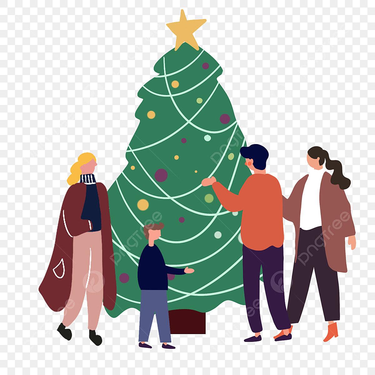 Illustrazione Di Natale Pino Inverno Giallo Pine I
