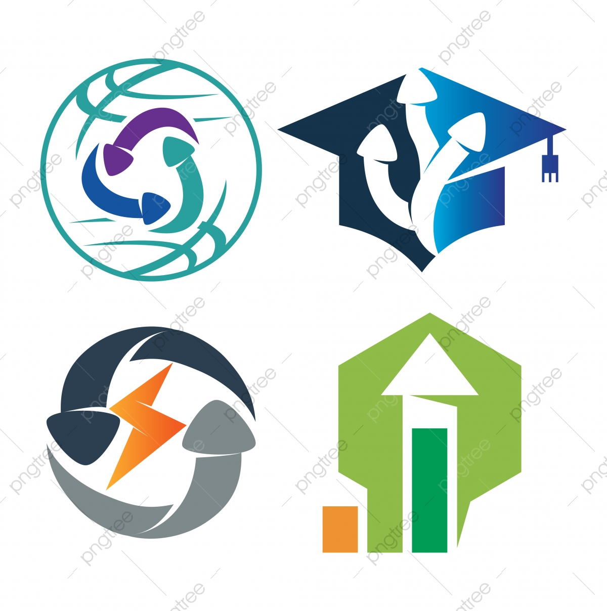 World Education Bolt Business Arrow Direction Vector Color Set Arrow Icons Business Icons Education Icons Png And Vector With Transparent Background For Free Download