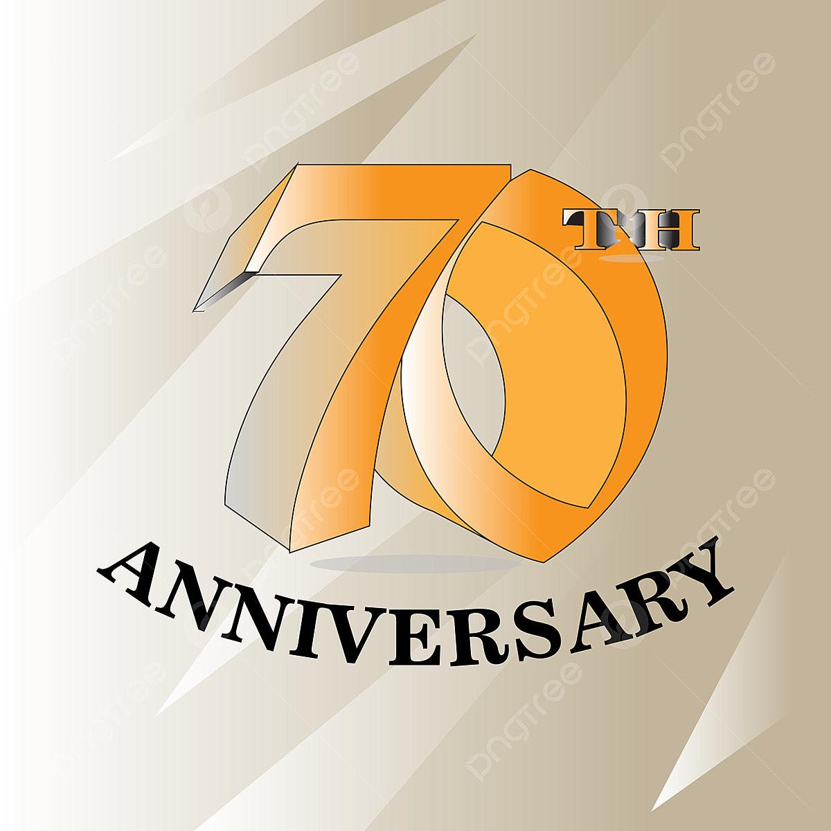 Logotipo De Celebración De Aniversario De 70 Años Logotipo