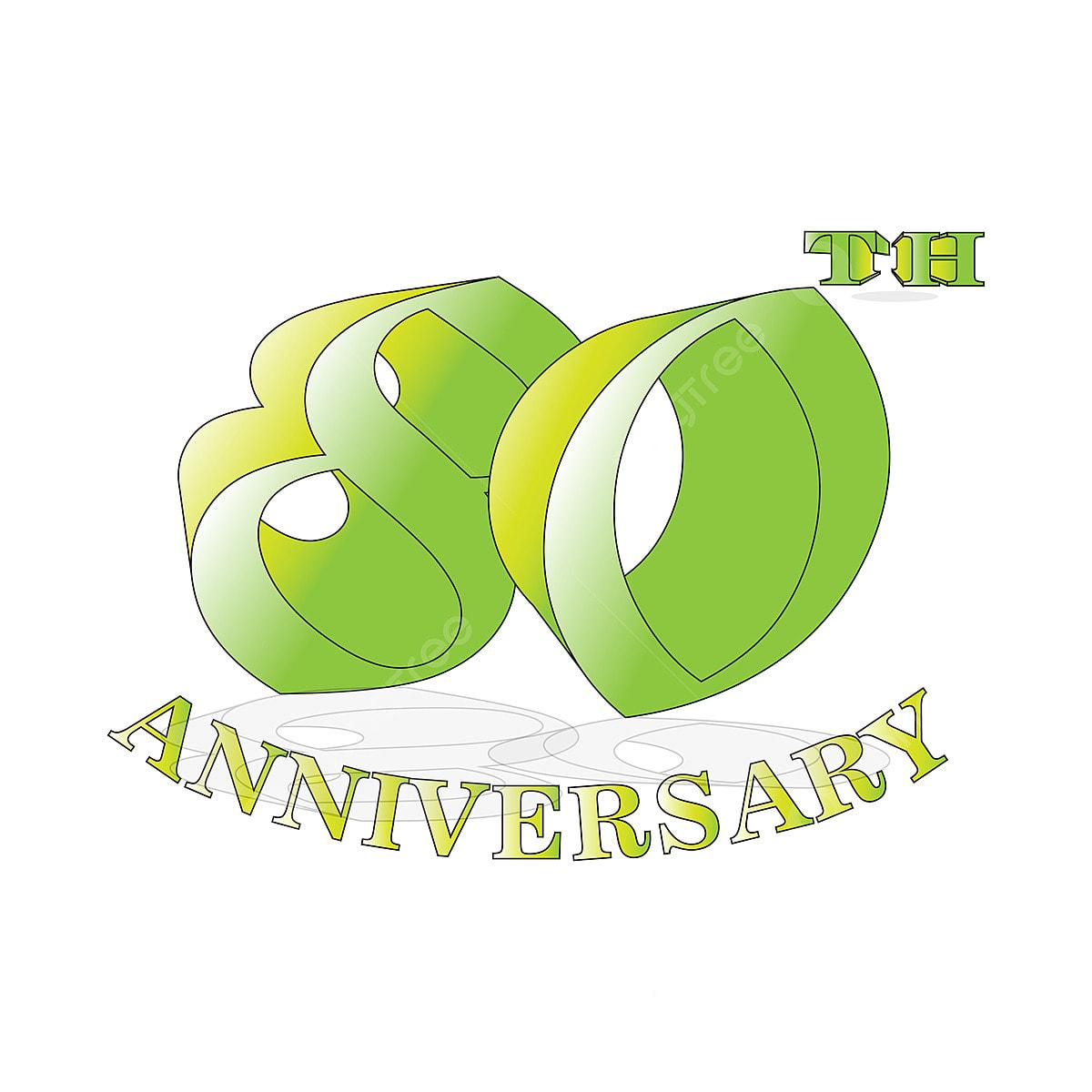 Logotipo De Celebración De Aniversario De 80 Años Logotipo