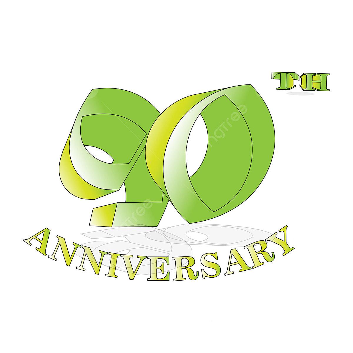 Logotipo De Celebración De Aniversario De 90 Años Logotipo