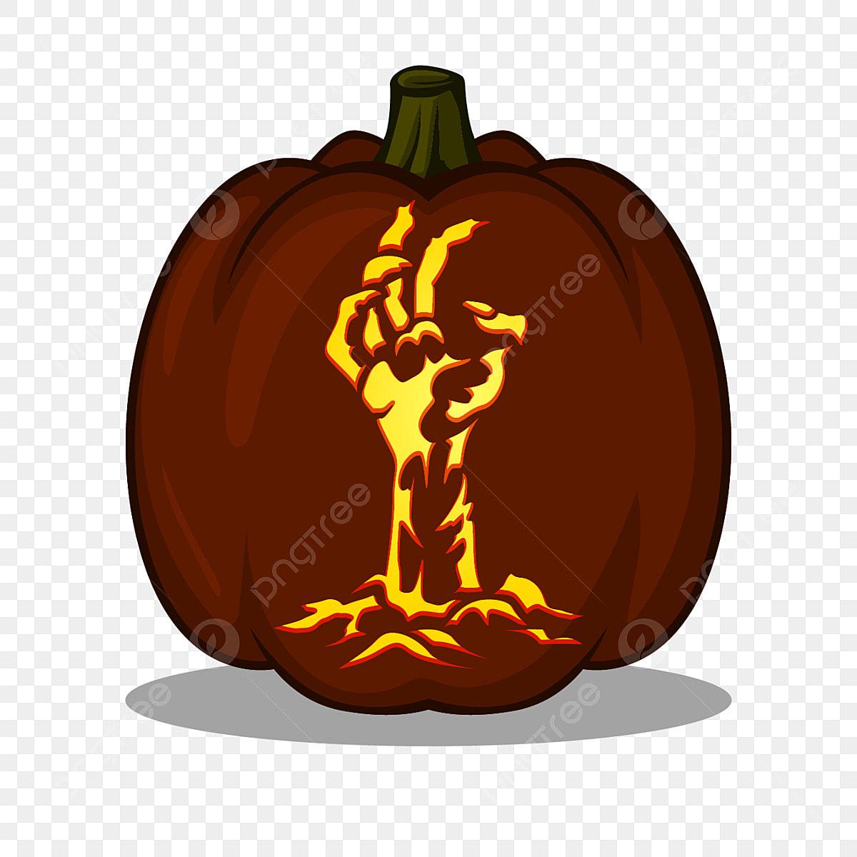 Intagliare Zucca Per Halloween Disegni disegno a mano zombie per idee intaglio di zucca include