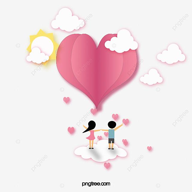 valentine s day love paper cut pink