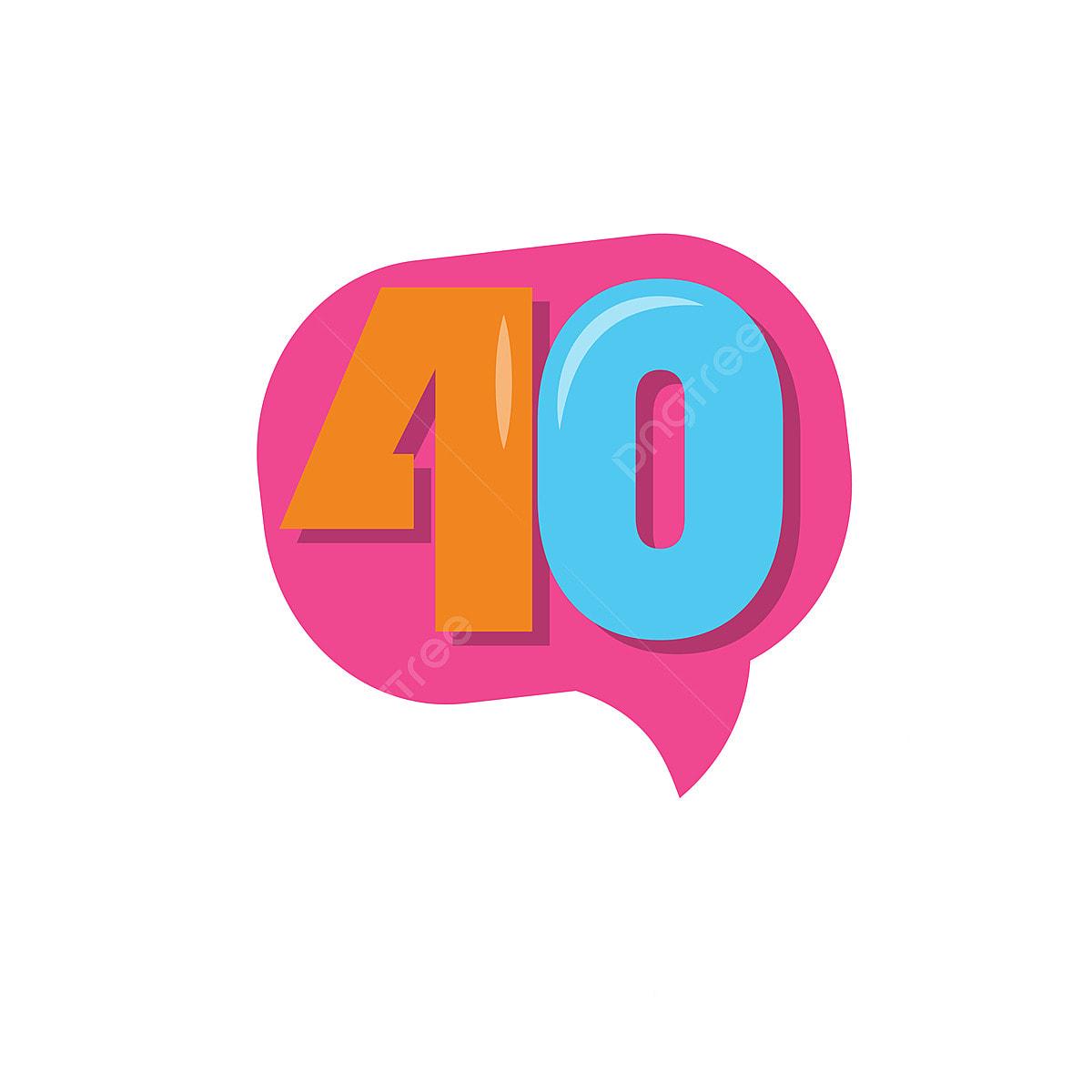Fête d'anniversaire de 40 ans Clipart - Image