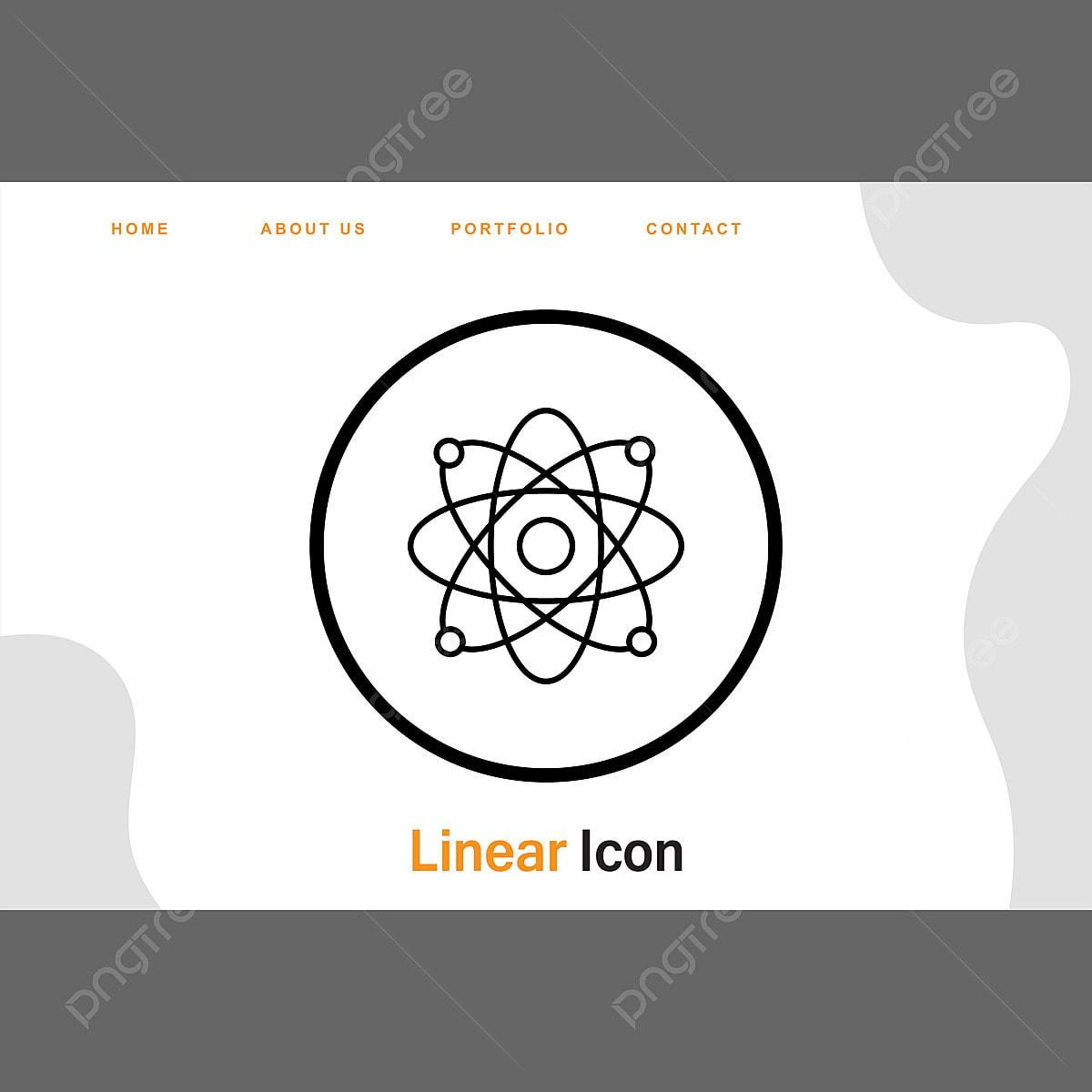 ícone De Estrutura De átomo Para Seus Sites E Projetos De