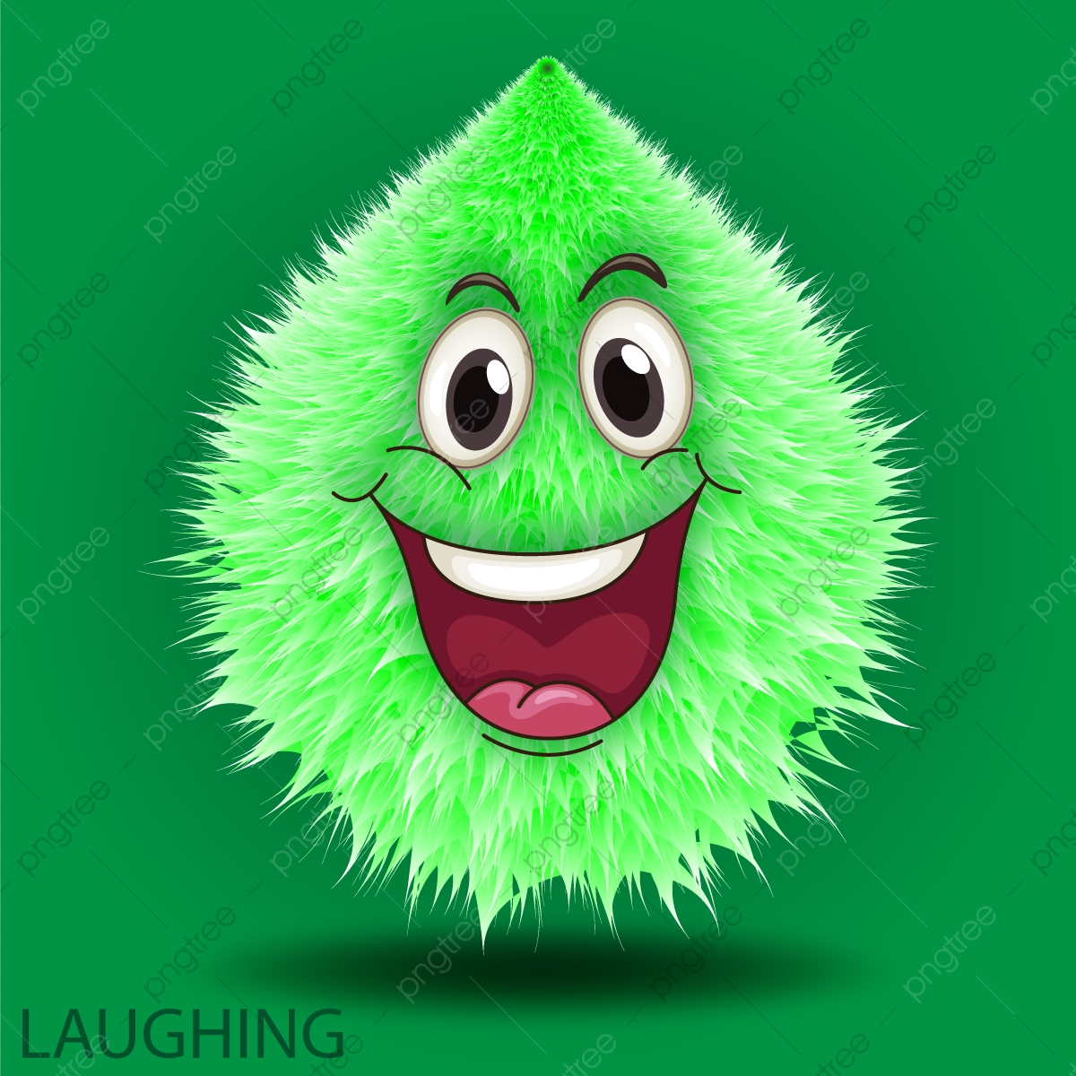 Kartun Hijau Lucu Ketawa Hijau El Tertawa Lembut PNG