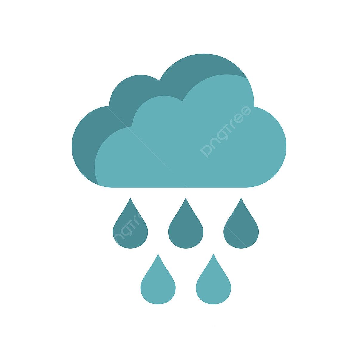 gambar awan dengan hujan jatuh ikon gaya rata awan langit hujan png dan vektor untuk muat turun percuma pngtree