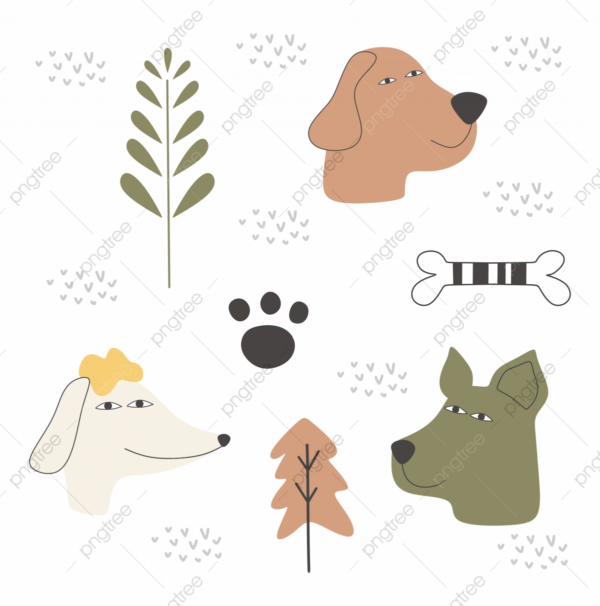 Dog Cartoon Drawing Set Design Vector Illustration Pack Collections Cute Characters Cute Vector Drawing Png And Vector With Transparent Background For Free Download