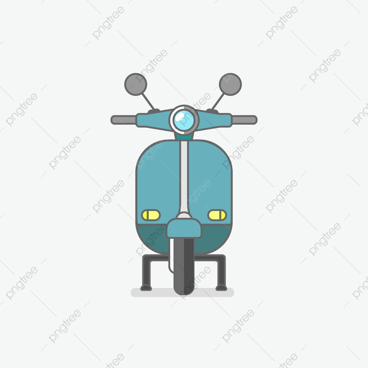 Flat Motor Design Vespa Motor Flat Vector PNG And Vector