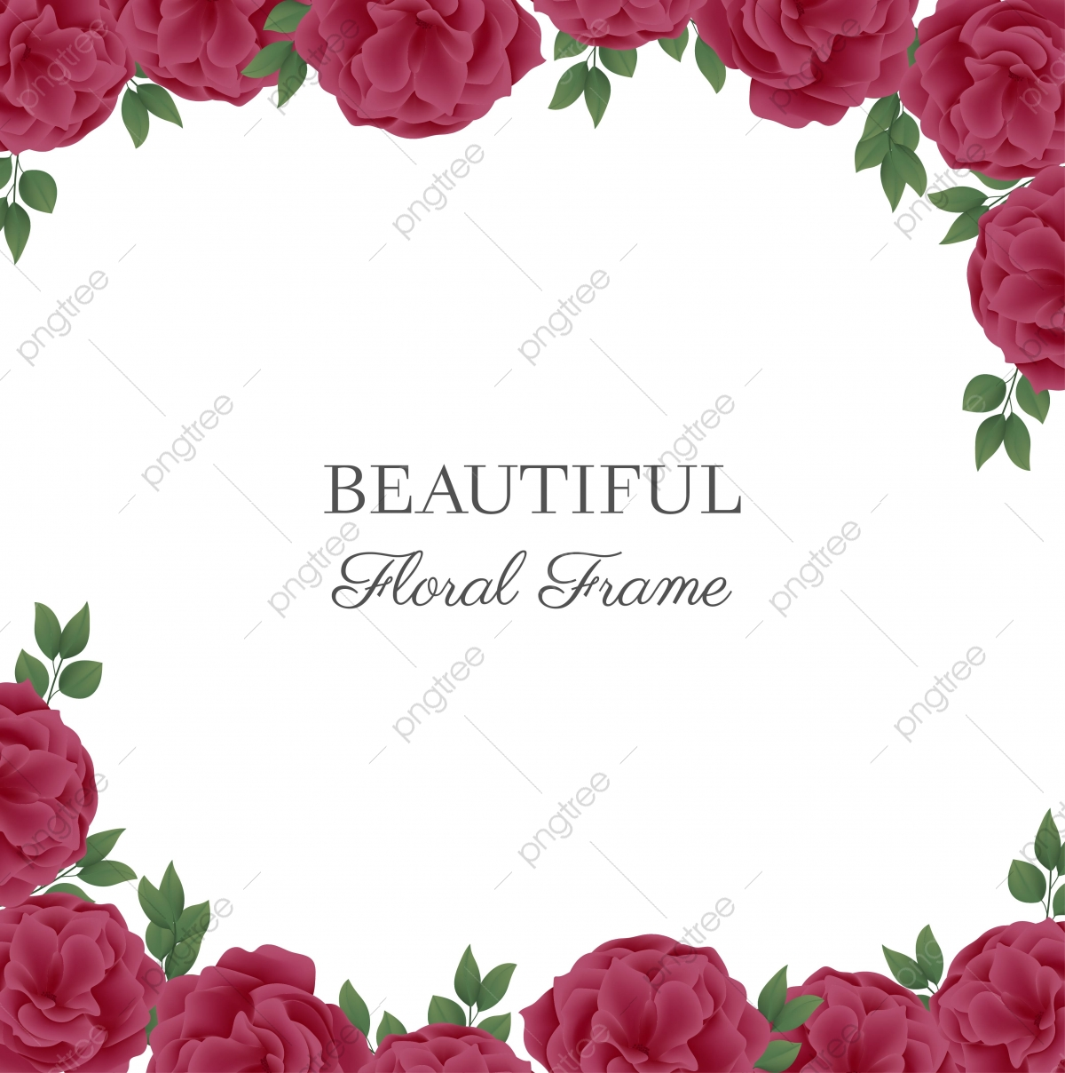Floral Background With Rose Flower Frame Frame Background