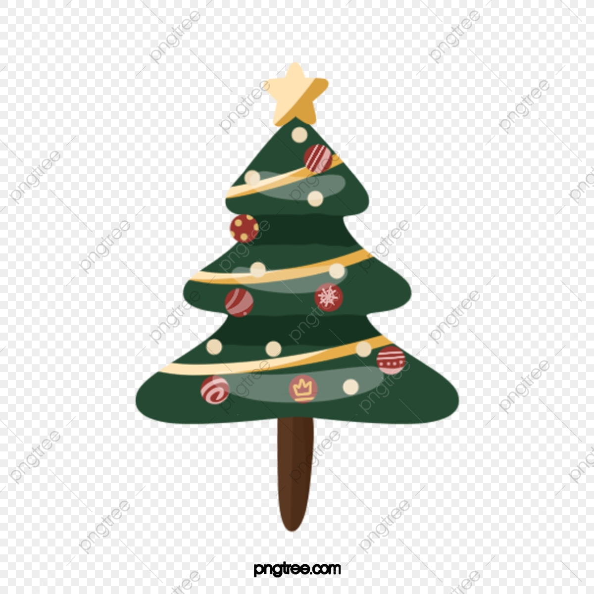 Hand Drawn Western Christmas Tree Illustration Elements Hand Painted Occident Christmas Png Transparent Clipart Image And Psd File For Free Download