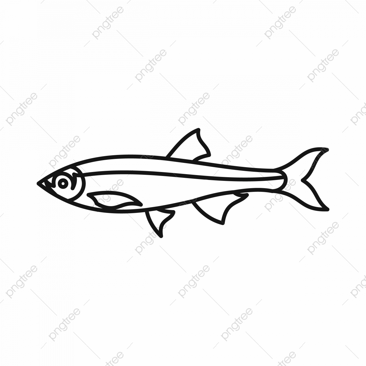 Herring Fish Icon Outline Style Fish Herring Fishing Png