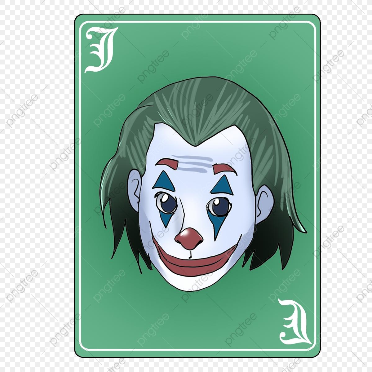 Kad Joker Ilustrasi Ilustrasi Lukisan Digital Fail Png Dan Psd