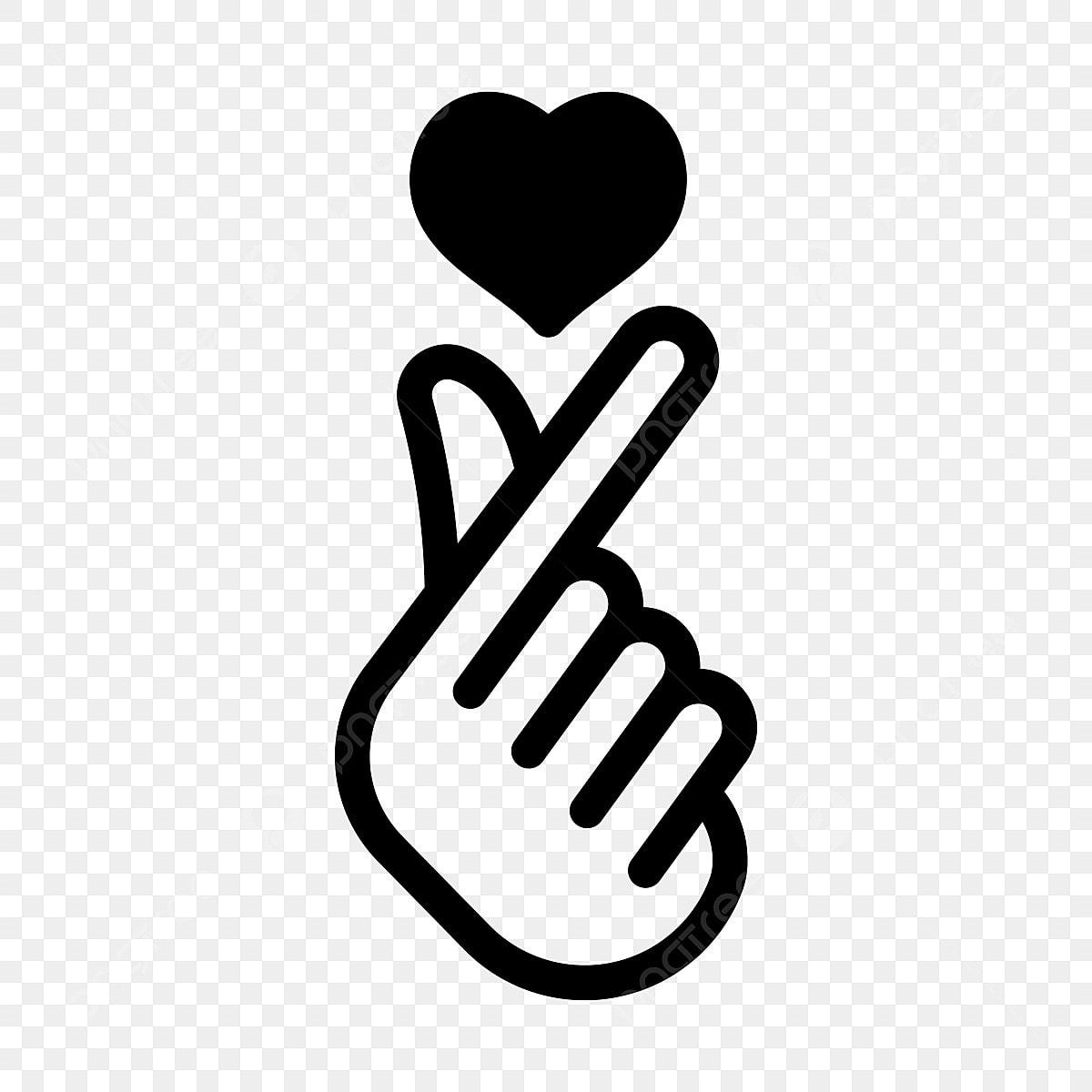 Gambar Simbol Cinta Korea Ikon Cinta Ikon Simbol Pakaian Png Dan Vektor Untuk Muat Turun Percuma