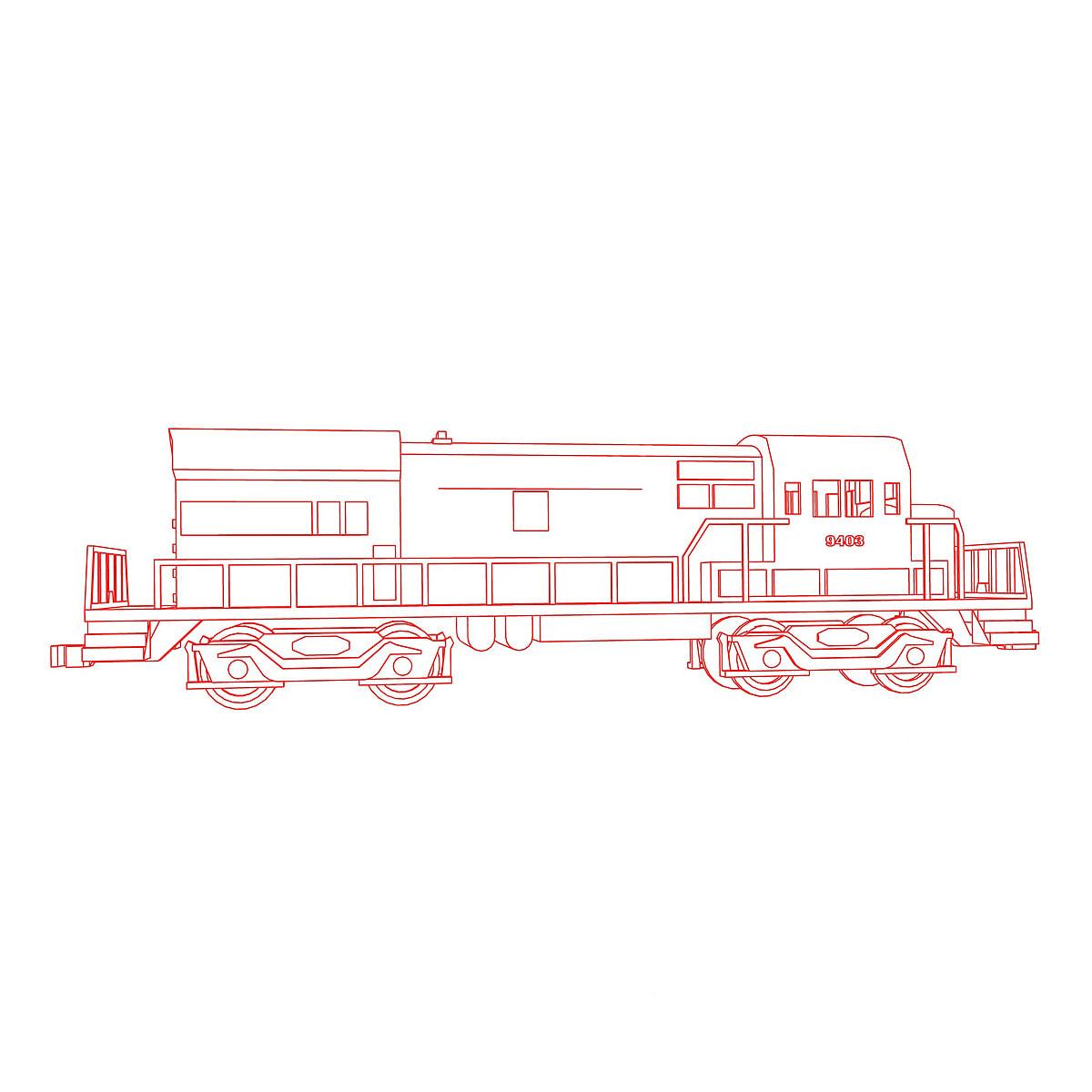 Linha Artistica Do Trem Para Colorir Ilustracao De Trem Para As