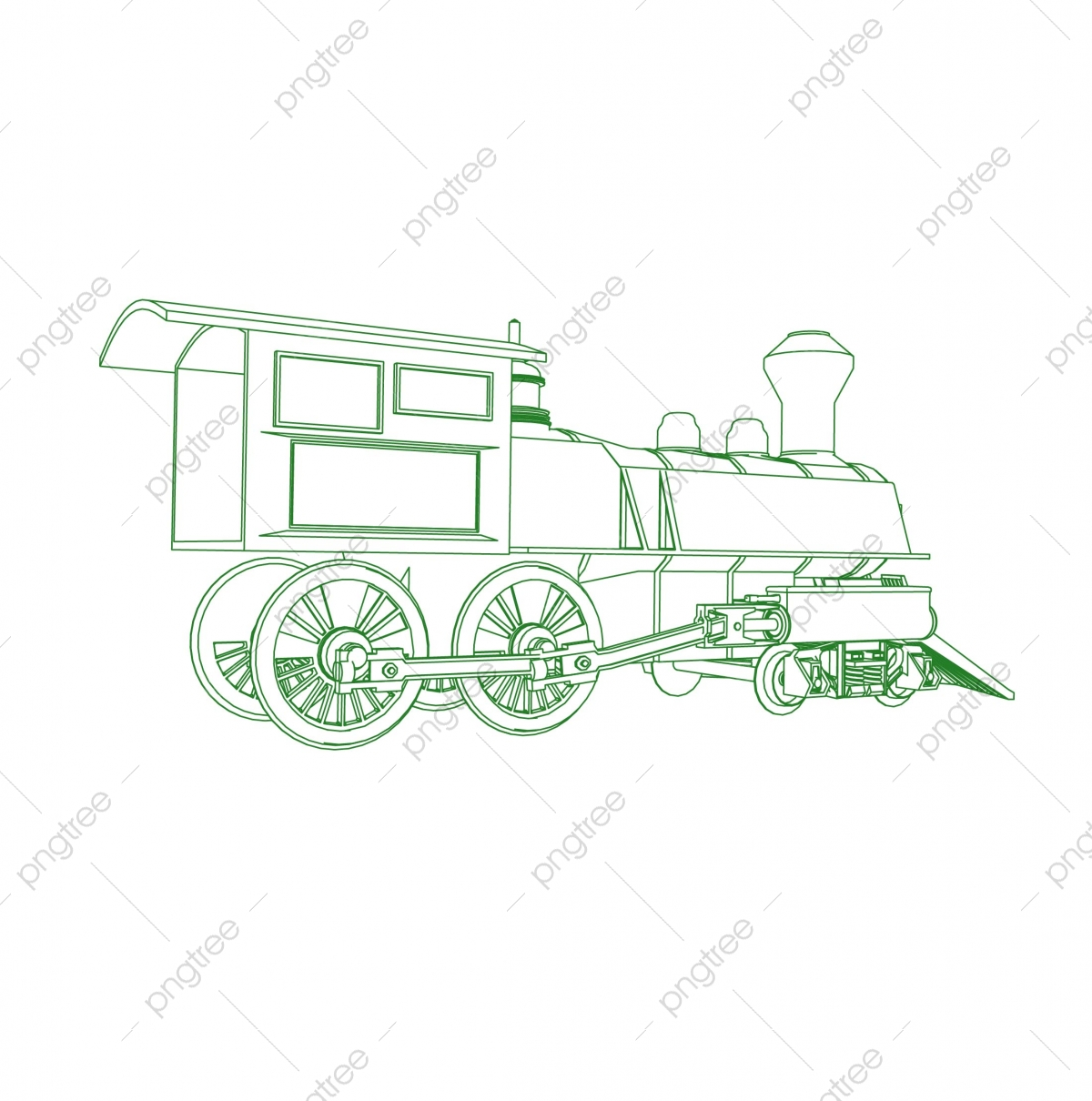 Line Art Of The Train Coloring Page Train Illustration For The