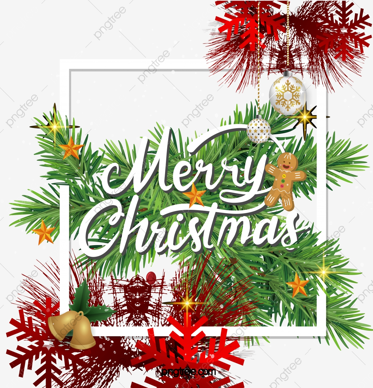 realistic christmas border design christmas clipart christmas leaves png and vector with transparent background for free download https pngtree com freepng realistic christmas border design 5102523 html