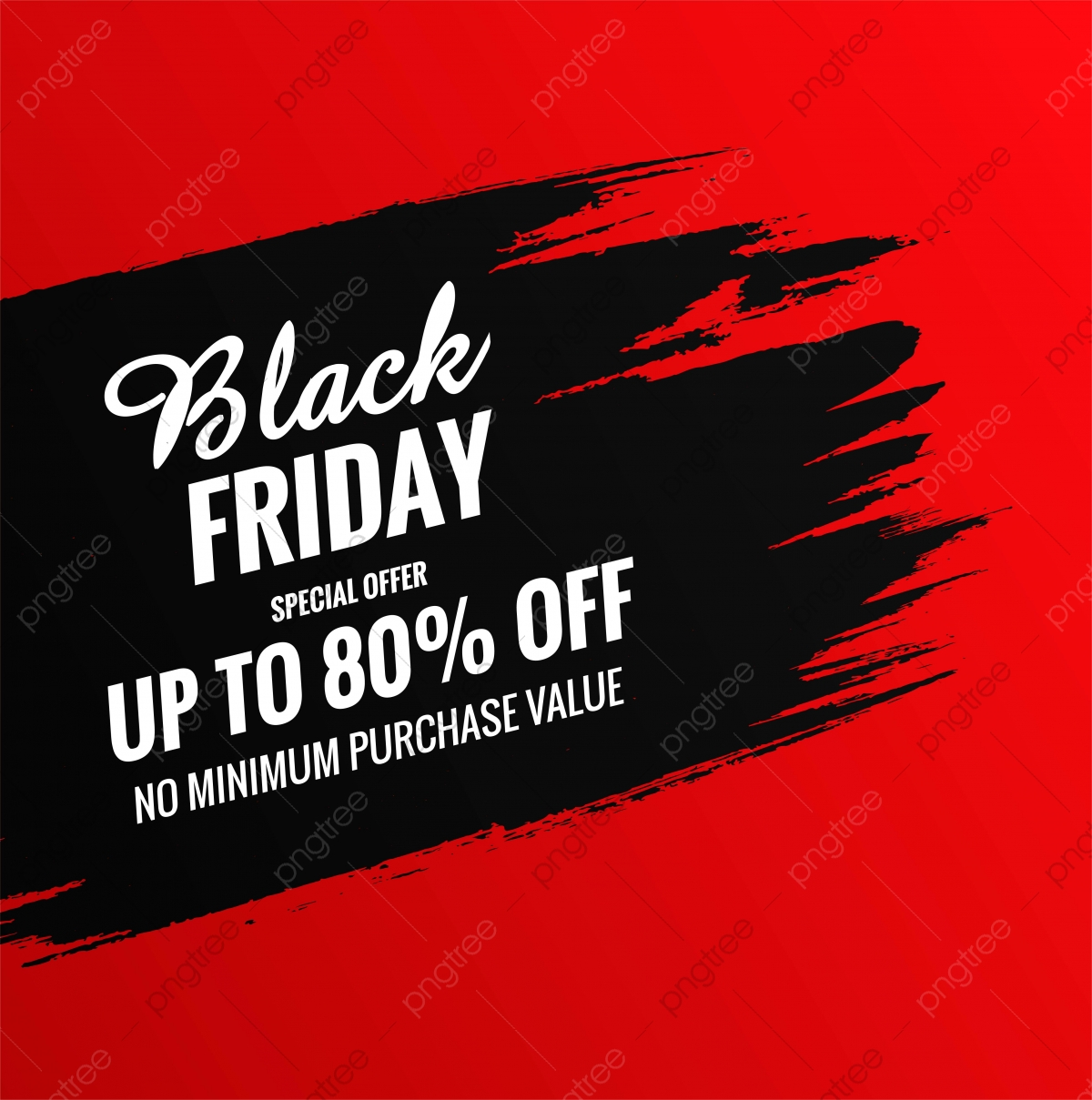 Red Background With Black Brush Stroke Black Friday Sale Design Background Sale Black Friday Png And Vector With Transparent Background For Free Download