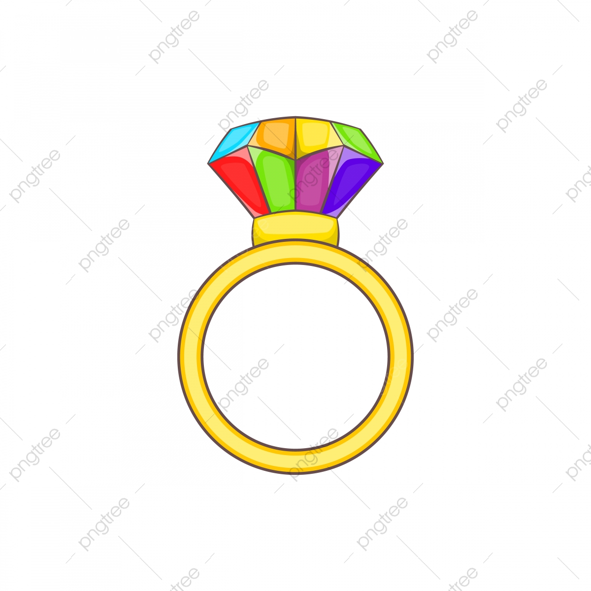 Ring Lgbt Icon Cartoon Style Ring Lgbt Icon Png And