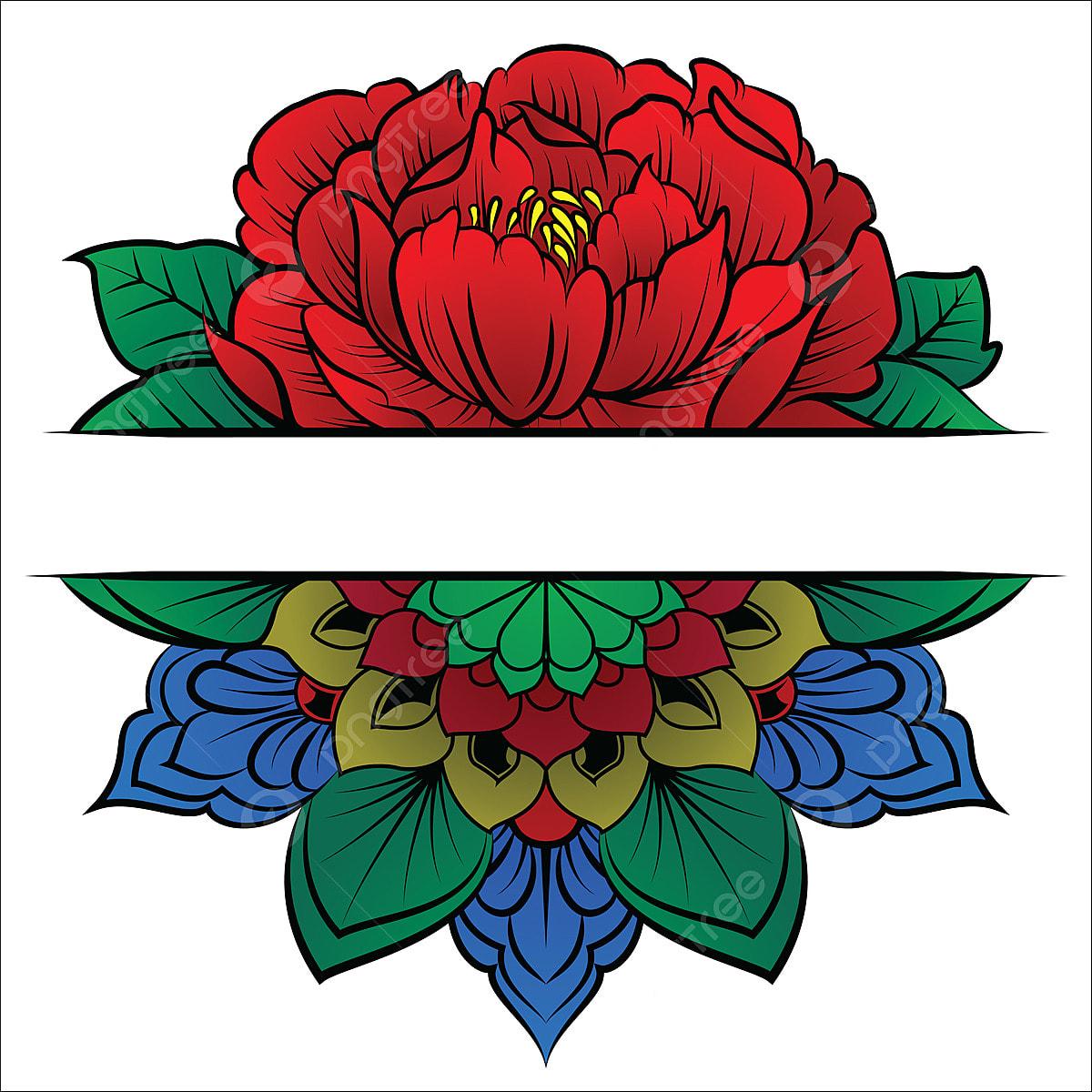 Rosa Com Chamas Tribais Para Tatuagem Ou T Shirt Design Tatuagem