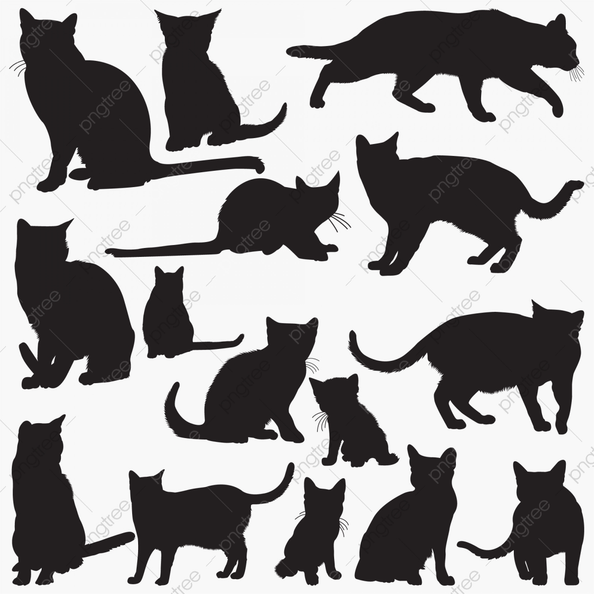 Russian Blue Cat Silhouettes Background Blue British Png And Vector With Transparent Background For Free Download