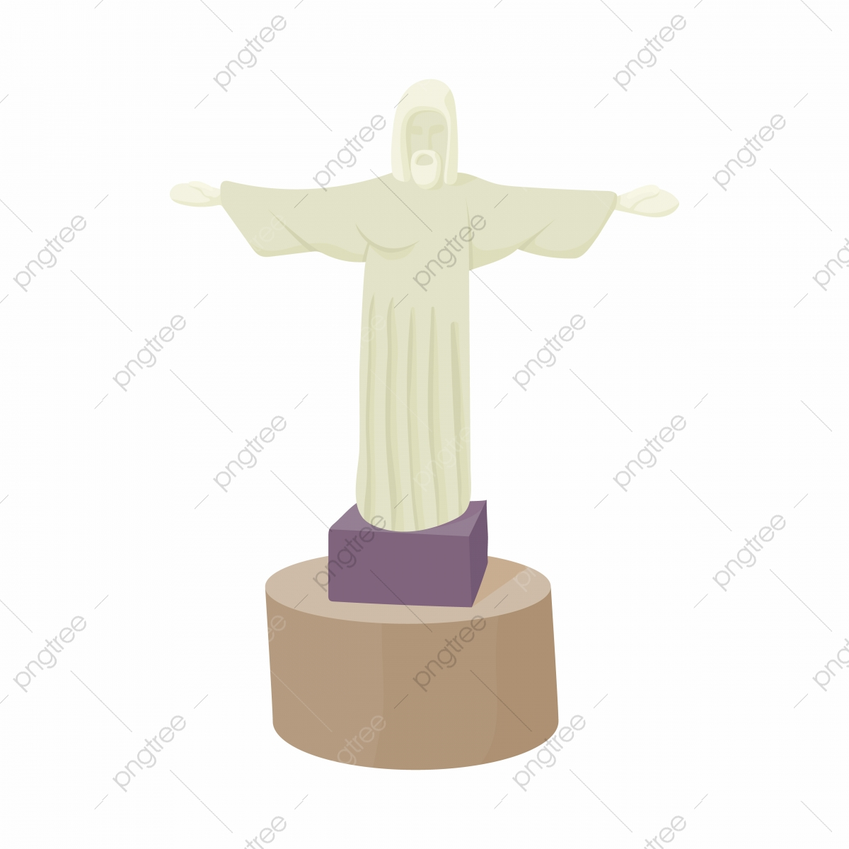 Estatua De Cristo Redentor Icone Estilo Cartoon Estatua Cristo