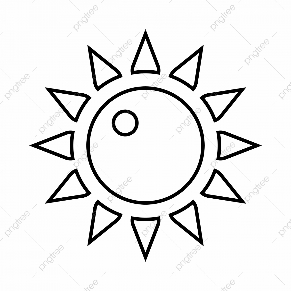 Sun Icon Outline Style Sun Icon Outline Png And Vector With