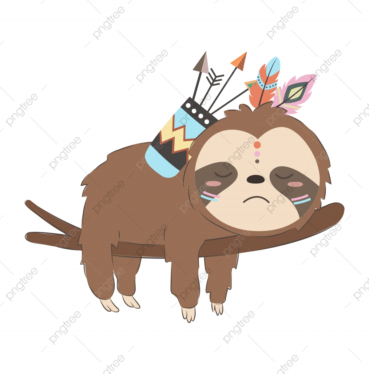 Adorable Baby Sloth Illustration For Nursery Art Adorable Animal Animals Png And Vector With Transparent Background For Free Download