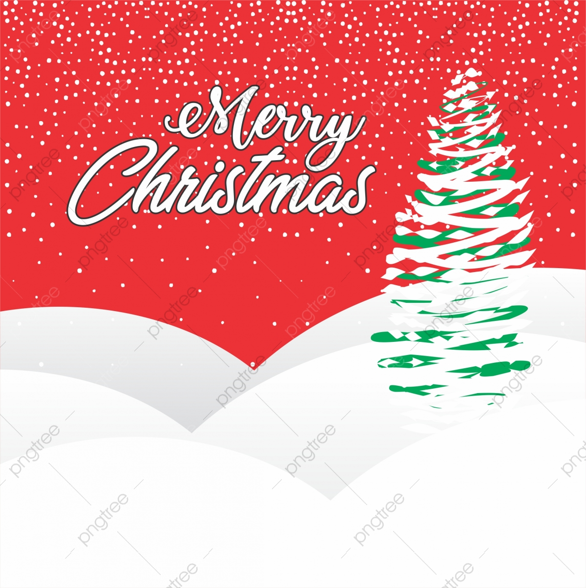 Beautiful Santa Tree Nice And Clean Merry Christmas Greeting