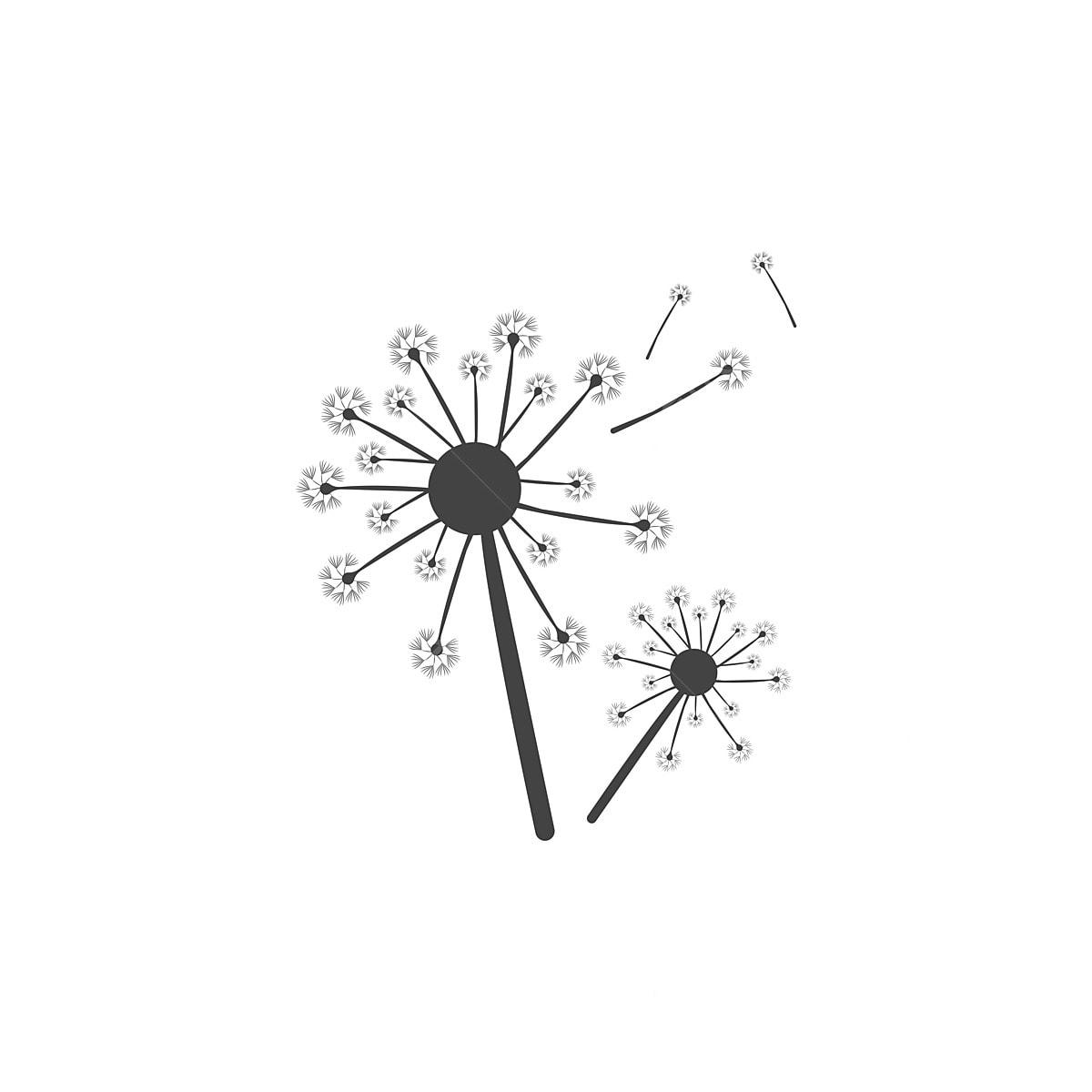 Dandelion Icon And Symbol Template Illustration Vector Symbol