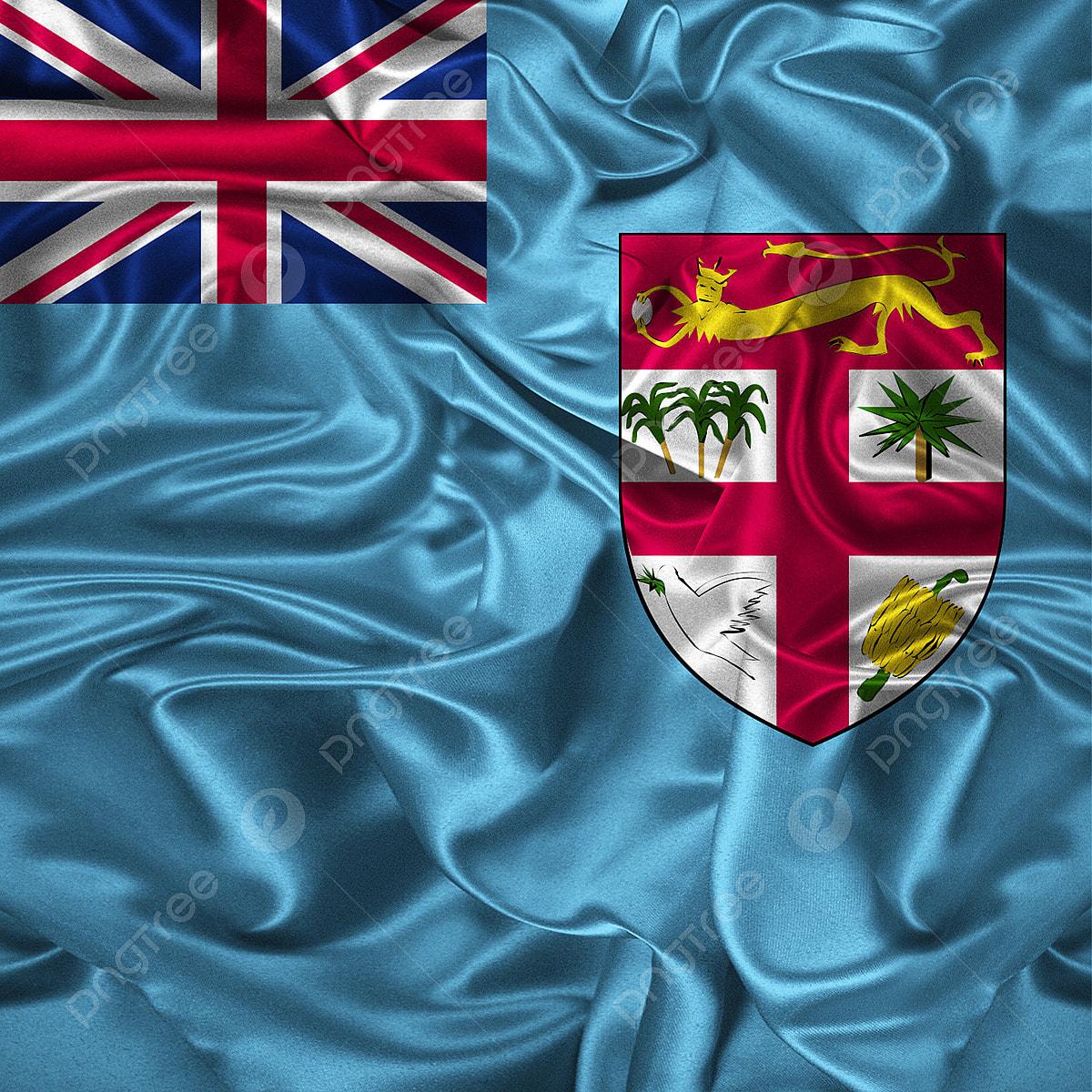 Fiji Flag Illustration Vector Waving 3d Fiber Fiji Fiji