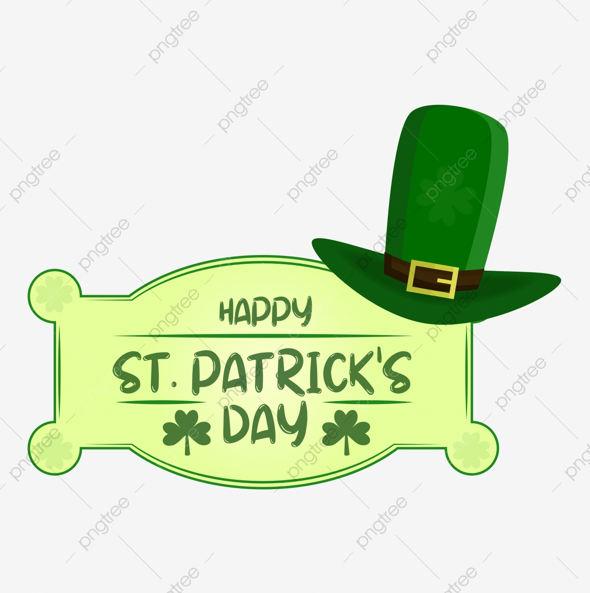 Happy St Patrick S Day Frame Clipart Vector Png Element Party Pot Of Luck Celebration Png And Vector With Transparent Background For Free Download