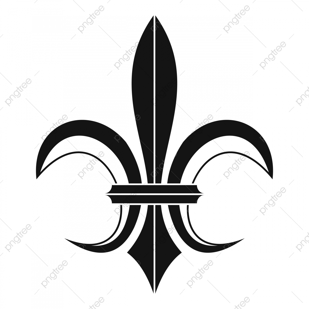 Lily Heraldic Emblem Icon Simple Style Lily Royal France