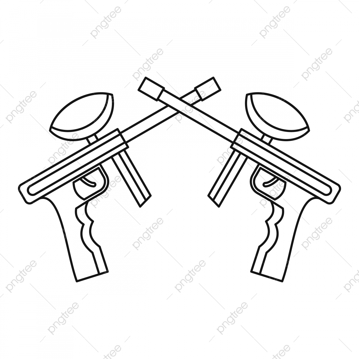 Paintball Guns Icon Outline Style Style Icons Outline Icons Gun Png And Vector With Transparent Background For Free Download