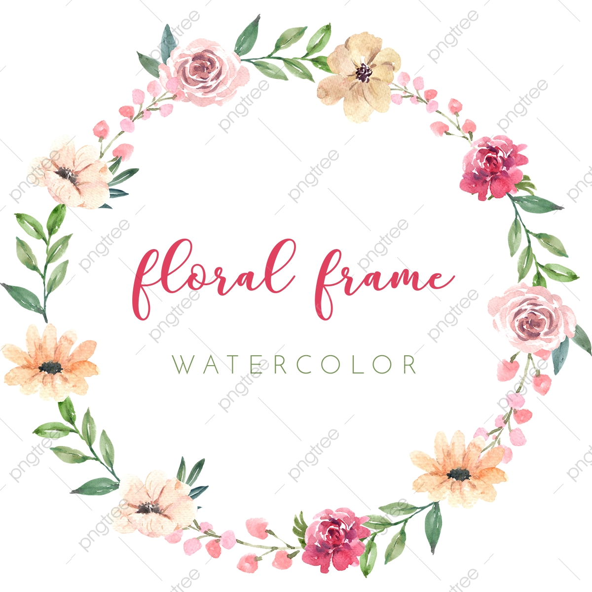 Floral Circle Png Vector Psd And Clipart With Transparent