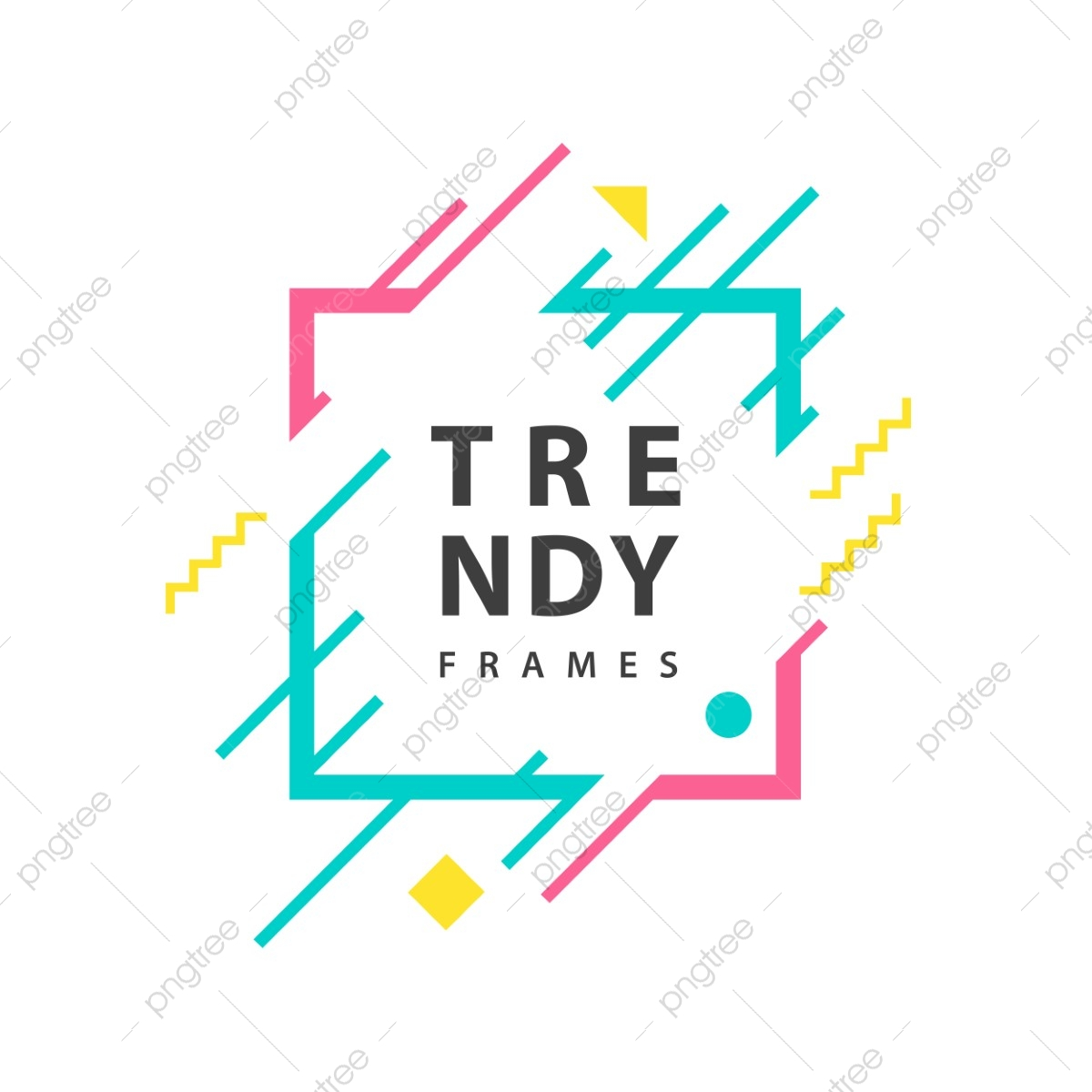 Square Frames With Geometric Lines Vector Borders With Trendy Shapes Graphics Design Templates For Banners Flyers Posters Cards Frame Template Background Png And Vector With Transparent Background For Free Download,Abstract Geometric Line Design