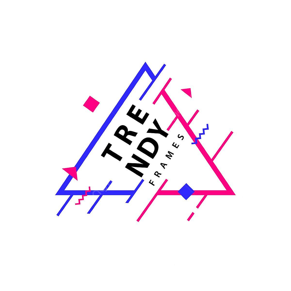 إطارات ذات خطوط هندسية متجهة للحدود مع قوالب تصميم رسومات بالأشكال العصرية لبطاقات ملصقات النشرات فريم قالب الخلفية Png والمتجهات للتحميل مجانا