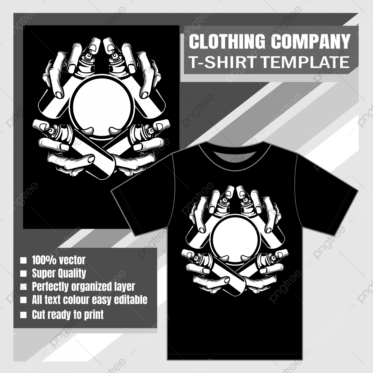 Mock Up Clothing Company T Shirt Template Hand Spray Paint Vector Illustration Apparel Template Casual Png And Vector With Transparent Background For Free Download