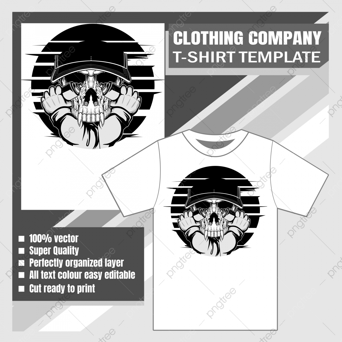 Mock Up Clothing Company T Shirt Template Skull Spray Paint Vector Illustration Apparel Template Casual Png And Vector With Transparent Background For Free Download